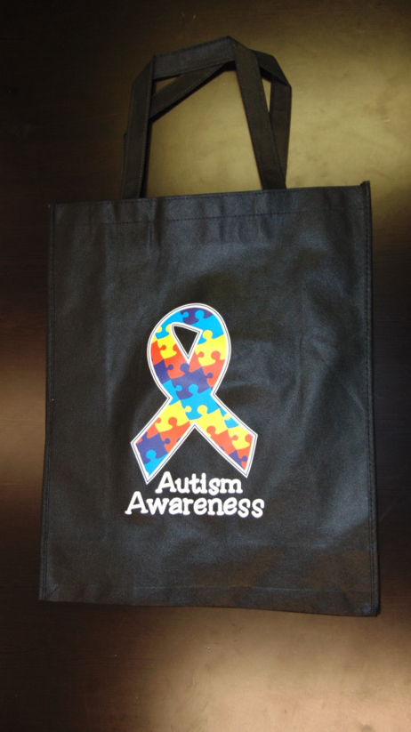 Autism Awareness Grocery Tote