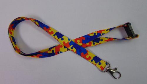 Autism Puzzle Lanyard