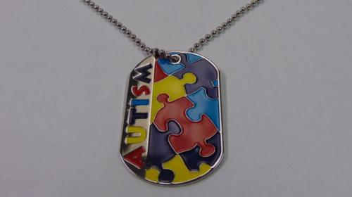 Autism Puzzle Piece Dog Tags